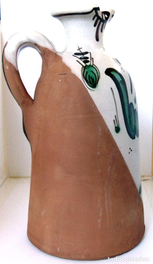Antigüedades: JARRA ACEITERA -CERAMICA DE TERUEL-DOMINGO PUNTER-AÑOS OCHENTA - Foto 4 - 131791706