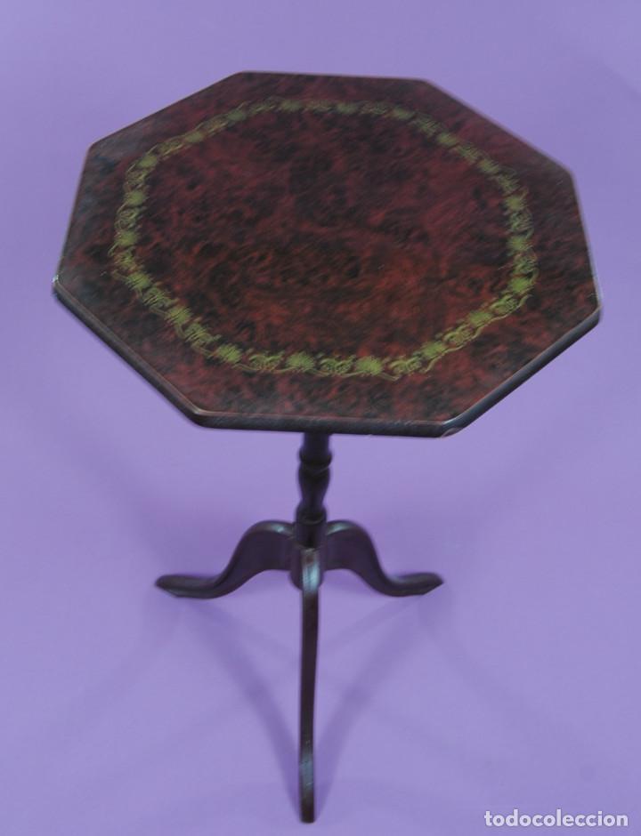 VELADOR ESTILO ISABELINO (Antigüedades - Muebles Antiguos - Veladores Antiguos)