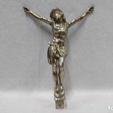Antigüedades: CRISTO, CRUCIFIJO PARA COLGAR DE ESTAÑO. Lote 131852114