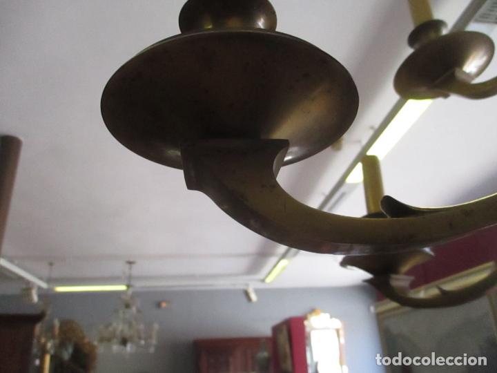Antigüedades: Esplendida Lampara de Techo - Bronce - 12 Luces - Ideal Comedor, Salón - Años 40 - Foto 7 - 131878302