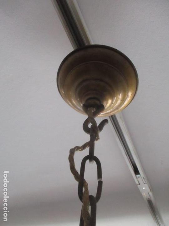Antigüedades: Esplendida Lampara de Techo - Bronce - 12 Luces - Ideal Comedor, Salón - Años 40 - Foto 15 - 131878302