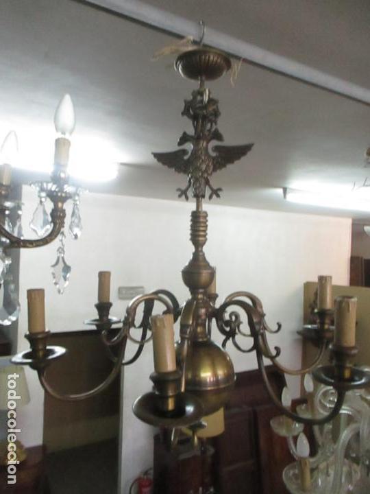 lampara de techo holandesa - bronce - 6 luces - - Kaufen Antike ...