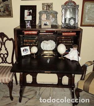 Antigüedades: Bargueño escritorio castellano sXIX - Foto 2 - 131881374