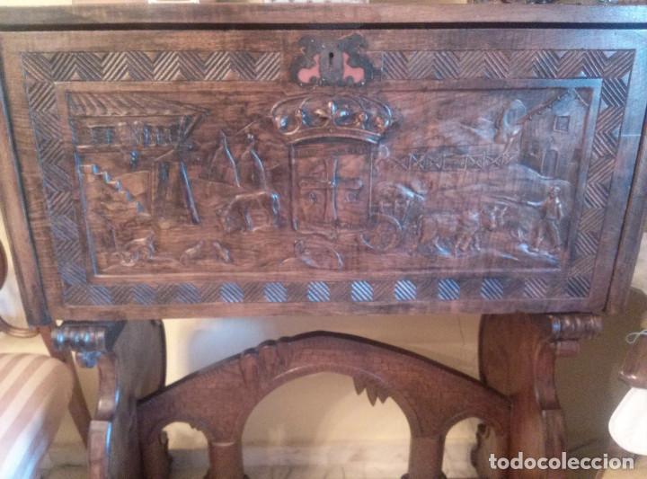 Antigüedades: Bargueño escritorio castellano sXIX - Foto 3 - 131881374