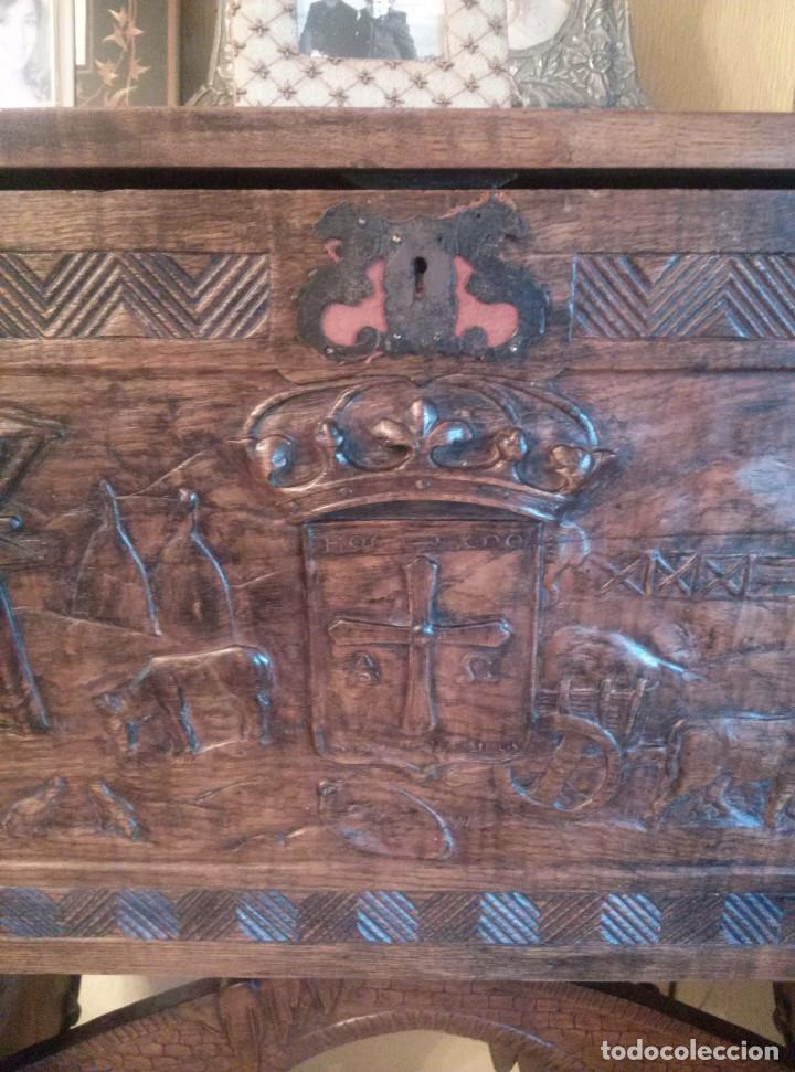 Antigüedades: Bargueño escritorio castellano sXIX - Foto 4 - 131881374