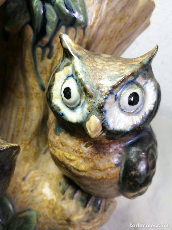 Antigüedades: Jarrón porcelana BUHOS de PAL (Porcelana Artística de Levante) sellado años 70 - Foto 4 - 131900278