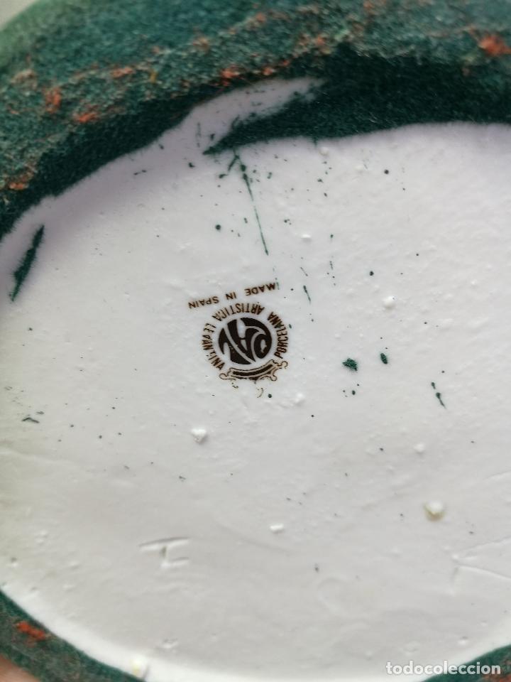 Antigüedades: Jarrón porcelana BUHOS de PAL (Porcelana Artística de Levante) sellado años 70 - Foto 5 - 131900278
