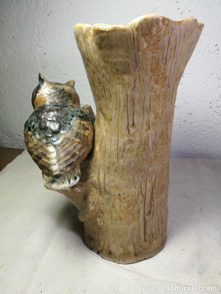 Antigüedades: Jarrón porcelana BUHOS de PAL (Porcelana Artística de Levante) sellado años 70 - Foto 9 - 131900278