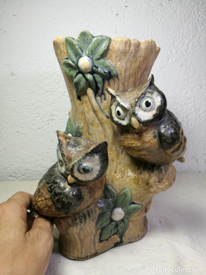 Antigüedades: Jarrón porcelana BUHOS de PAL (Porcelana Artística de Levante) sellado años 70 - Foto 10 - 131900278
