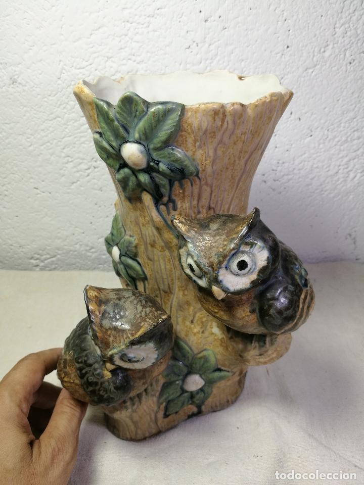 Antigüedades: Jarrón porcelana BUHOS de PAL (Porcelana Artística de Levante) sellado años 70 - Foto 12 - 131900278