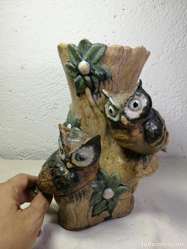 Antigüedades: Jarrón porcelana BUHOS de PAL (Porcelana Artística de Levante) sellado años 70 - Foto 14 - 131900278