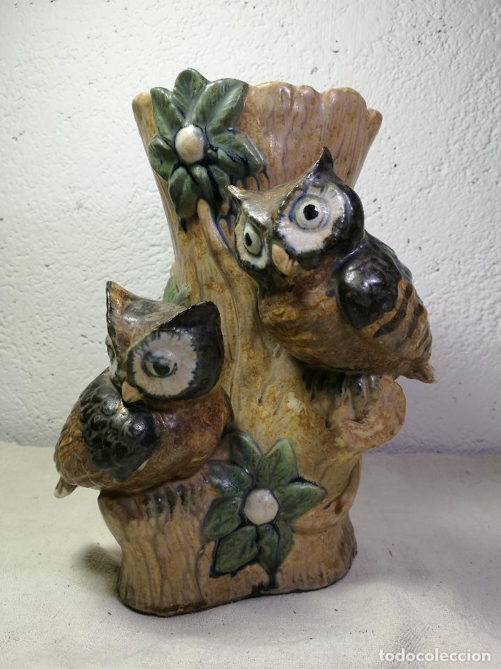 Antigüedades: Jarrón porcelana BUHOS de PAL (Porcelana Artística de Levante) sellado años 70 - Foto 16 - 131900278
