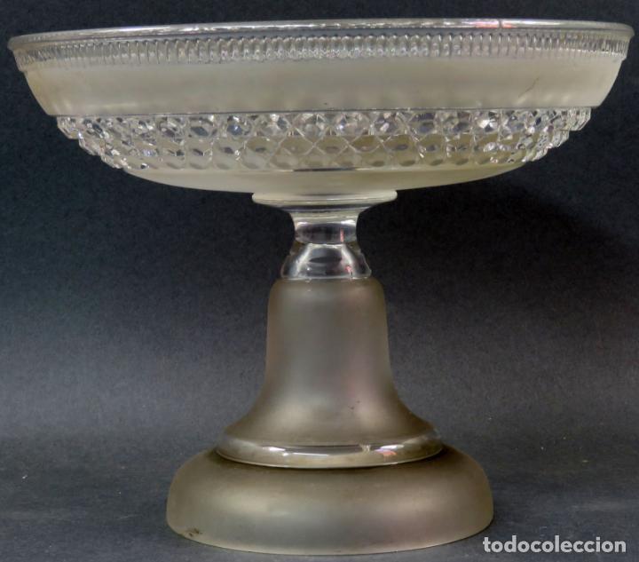 FRUTERO FUENTE PARA POSTRES EN CRISTAL TALLADO BACCARAT HACIA 1910 (Antigüedades - Cristal y Vidrio - Baccarat )