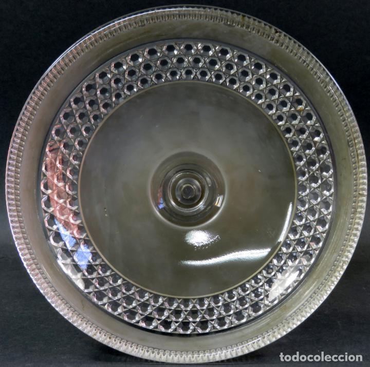 Antigüedades: Frutero fuente para postres en cristal tallado Baccarat hacia 1910 - Foto 4 - 131909554