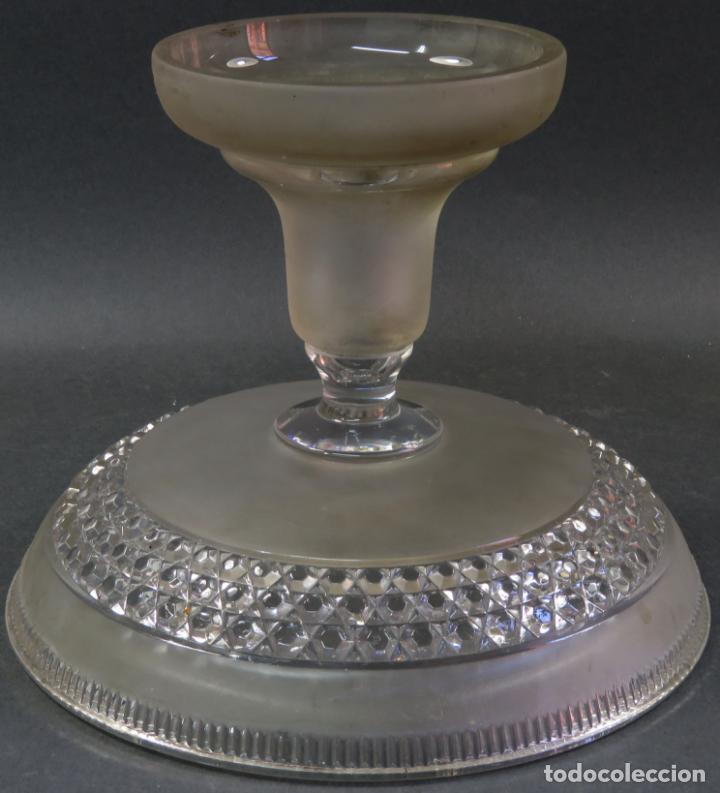 Antigüedades: Frutero fuente para postres en cristal tallado Baccarat hacia 1910 - Foto 5 - 131909554