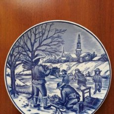 Antigüedades: PLATO PARA COLGAR ROYAL DELFTS BLAUW HANDWERK. Lote 131920630