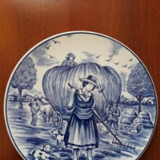 Antigüedades: PLATO PARA COLGAR ROYAL DELFTS BLAUW HANDWER- HOLANDA. Lote 131920850
