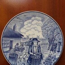 Antigüedades: PLATO PARA COLGAR ROYAL DELFTS BLAUW HANDWERK- HOLANDA. Lote 131921214