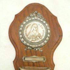 Antigüedades: BENDITERA FRANCESA. CIRCA 1900. SANTA TERESITA DEL NIÑO JESÚS. Lote 131929302