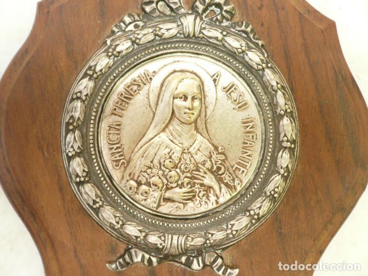 Antigüedades: BENDITERA FRANCESA. CIRCA 1900. SANTA TERESITA DEL NIÑO JESÚS - Foto 2 - 131929302