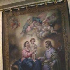 Antigüedades: GRAN TAPIZ SIGLO XIX DE LA SAGRADA FAMILIA. Lote 131933270