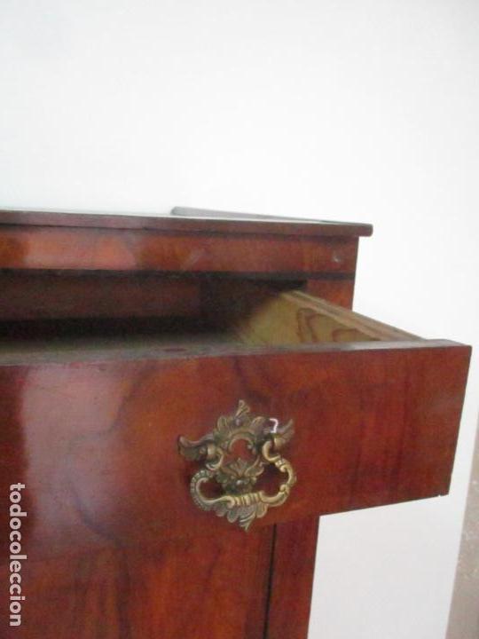 Antigüedades: Secreter Abattant Biedermeier - Escritorio - Madera de Nogal - Filete de Ébano - S. XIX - Foto 10 - 131941910
