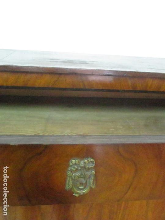 Antigüedades: Secreter Abattant Biedermeier - Escritorio - Madera de Nogal - Filete de Ébano - S. XIX - Foto 11 - 131941910