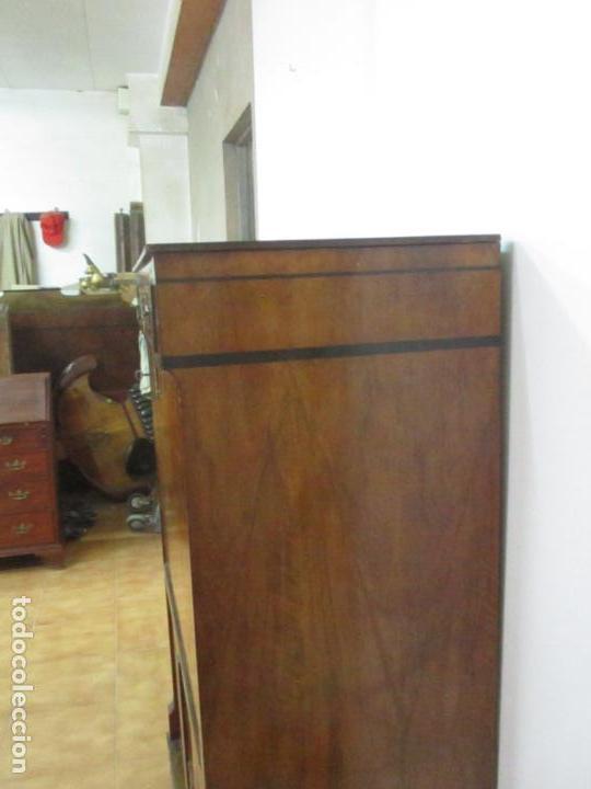Antigüedades: Secreter Abattant Biedermeier - Escritorio - Madera de Nogal - Filete de Ébano - S. XIX - Foto 23 - 131941910