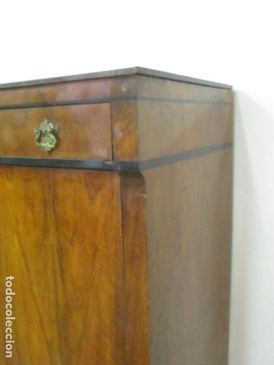 Antigüedades: Secreter Abattant Biedermeier - Escritorio - Madera de Nogal - Filete de Ébano - S. XIX - Foto 27 - 131941910