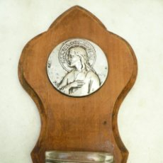 Antigüedades: BENDITERA FRANCESA. CIRCA 1900. CRISTO SALVADOR DEL MUNDO. FIRMADA POR RUFFONY. Lote 131948314
