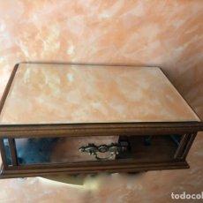 Antigüedades: REPISA - CONSOLA - APARADOR VOLADO DE ESPEJO Y MADERA - NUEVA. Lote 131956306