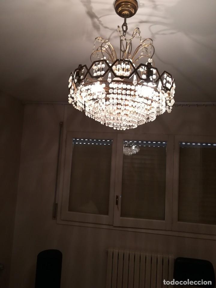 LÁMPARA CRISTAL ROCA (Antigüedades - Iluminación - Lámparas Antiguas)