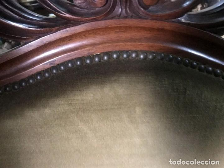 Antigüedades: CONJUNTO DESPACHO FRANCES MESA , 2 SILLAS TAPIZADAS Y 1 SILLON APROX.MITAD DEL SIGLO XIX - Foto 6 - 131960410