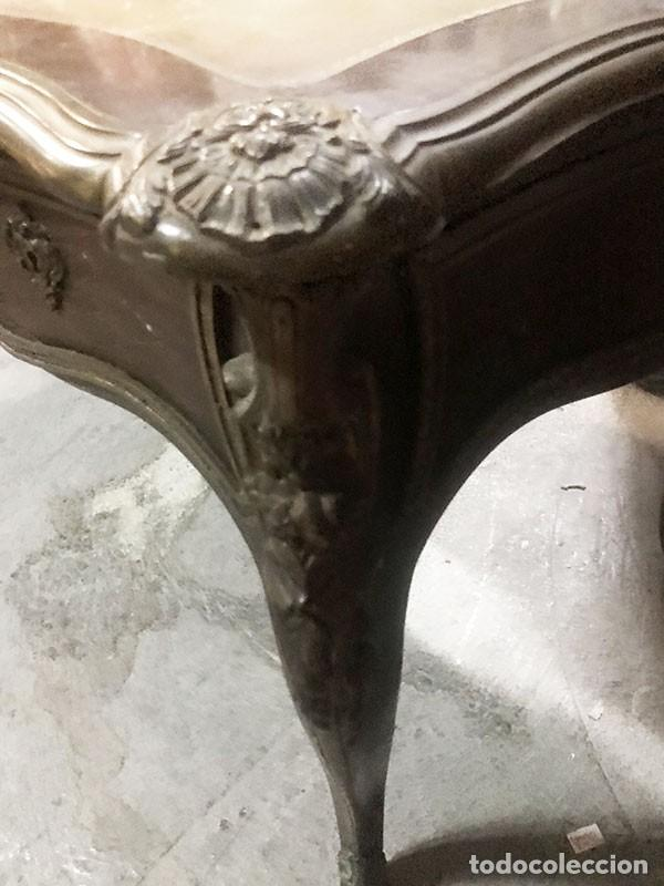 Antigüedades: CONJUNTO DESPACHO FRANCES MESA , 2 SILLAS TAPIZADAS Y 1 SILLON APROX.MITAD DEL SIGLO XIX - Foto 20 - 131960410