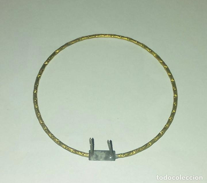 Antigüedades: Antigua corona o potencia para imagen religiosa - Foto 2 - 131962966