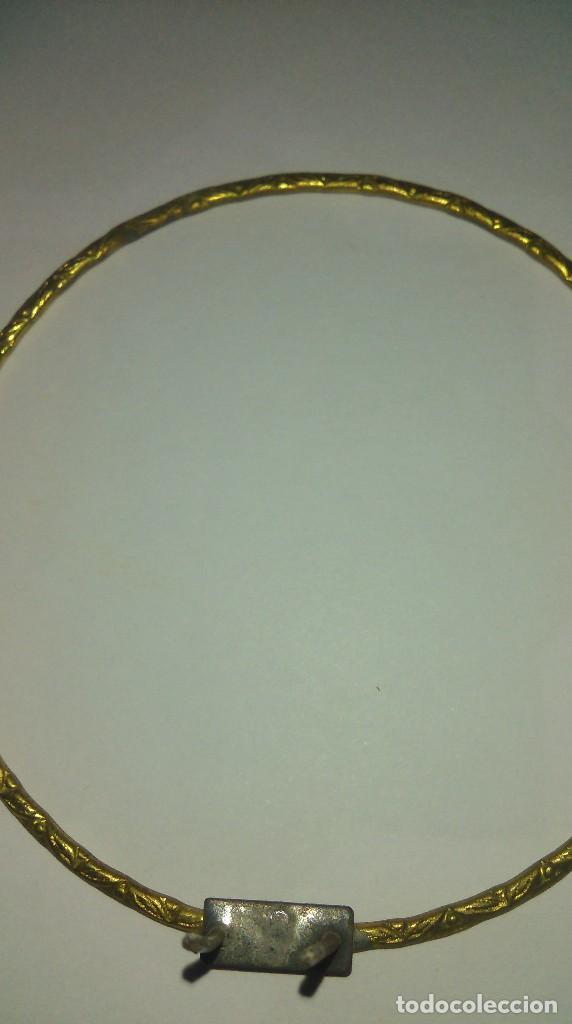 Antigüedades: Antigua corona o potencia para imagen religiosa - Foto 4 - 131962966