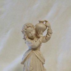 Antigüedades: ANTIGUA FIGURA RESINA FIRMADA. Lote 132001151
