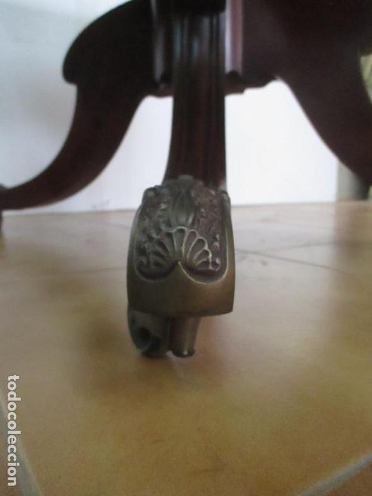 Antigüedades: Mesa Plegable con Alas - Victoriana, Inglaterra - Madera de Caoba - con Cajón - Principios S. XX - Foto 5 - 132010506