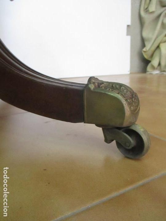 Antigüedades: Mesa Plegable con Alas - Victoriana, Inglaterra - Madera de Caoba - con Cajón - Principios S. XX - Foto 6 - 132010506