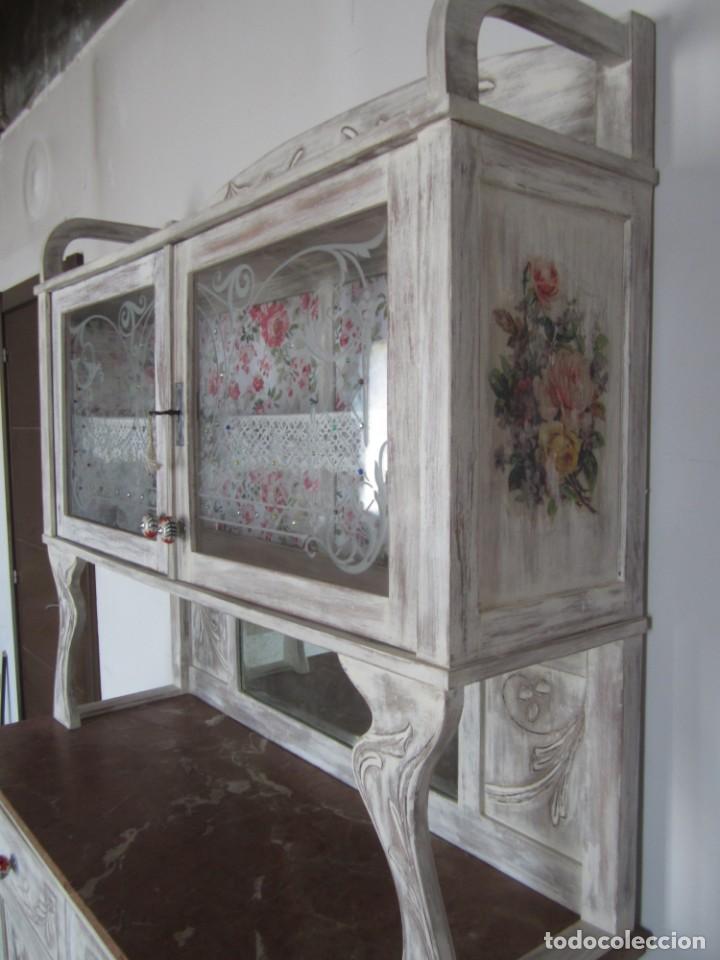 Antigüedades: MUEBLE ESTILO ART NOUVEAU APARADOR DE COMEDOR - Foto 4 - 132023430
