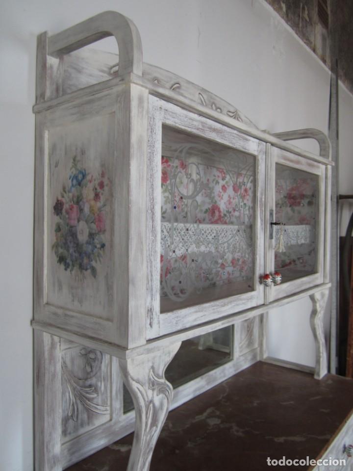 Antigüedades: MUEBLE ESTILO ART NOUVEAU APARADOR DE COMEDOR - Foto 5 - 132023430