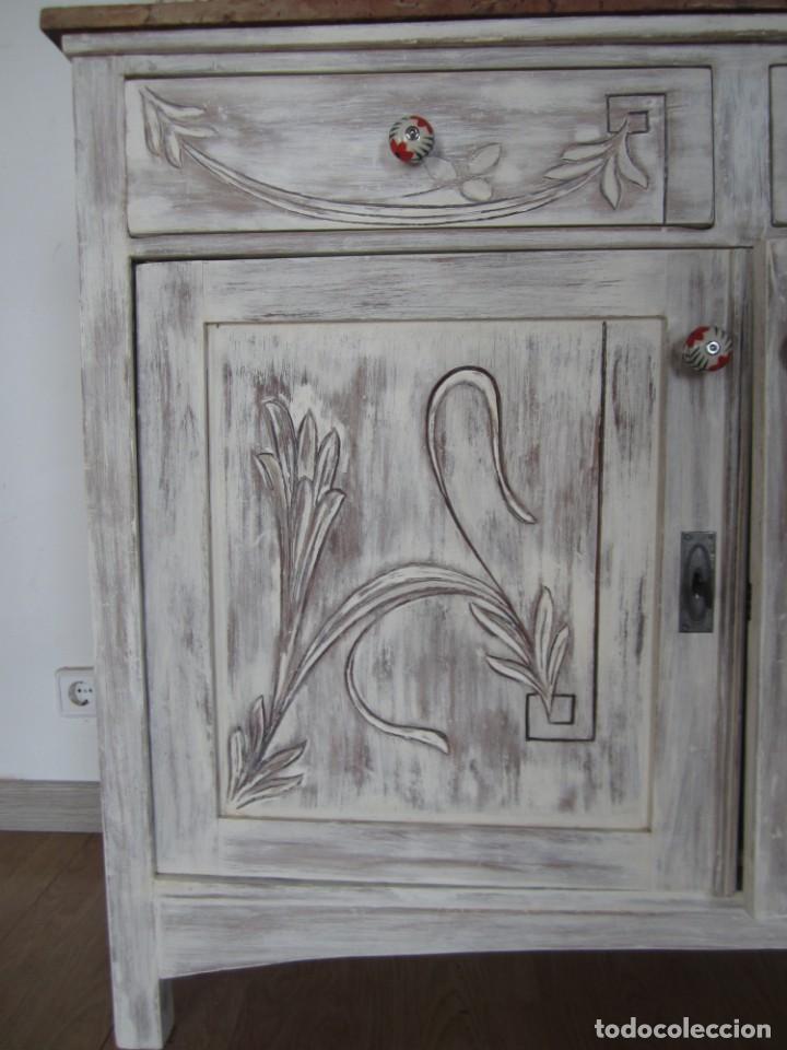 Antigüedades: MUEBLE ESTILO ART NOUVEAU APARADOR DE COMEDOR - Foto 11 - 132023430