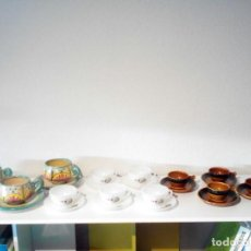 Antigüedades: LOTE 3 ANTIGUOS JUEGOS DE CAFE.. Lote 132024670