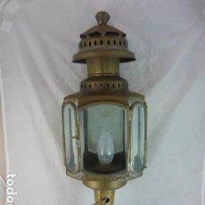 Antigüedades: GRAN FAROL DE CARRUAJE - ELECTRIFICADO - 55CM. Lote 132040414