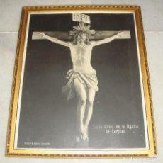 Antigüedades: ANTIGUA FOTOGRAFÍA DEL SANTO CRISTO DE LA AGONIA DE LIMPIAS. FOTOGRAFÍA LACALLE, SANTANDER. . Lote 132057902