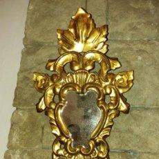 Antigüedades - Espejo cornucopia año 1840, madera y oro - 132067514