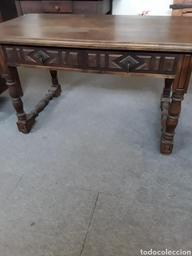 MESA DE NOGAL (Antigüedades - Muebles Antiguos - Mesas Antiguas)