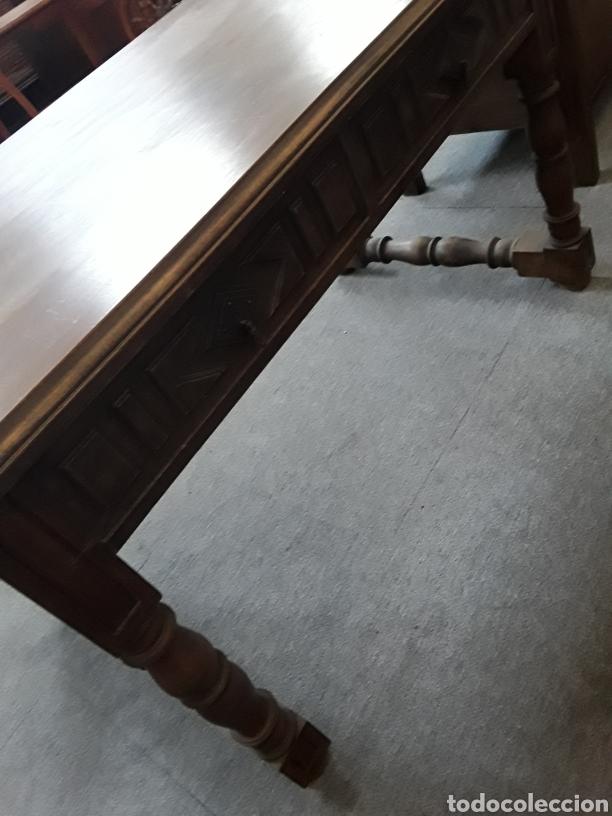 Antigüedades: Mesa de nogal - Foto 4 - 132089763