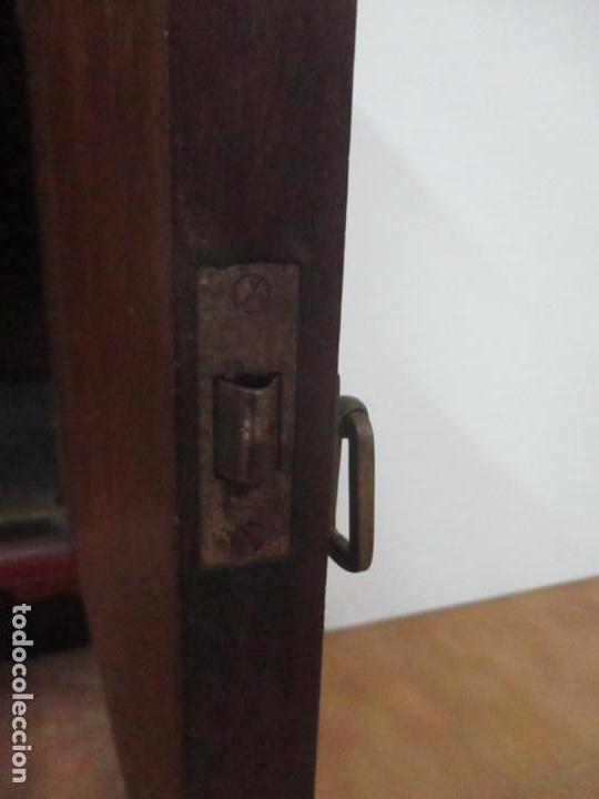 Antigüedades: Bonita Mesita Art Deco - Madera de Caoba y Limoncillo - Mármol Rojo Alicante - Principios S. XX - Foto 15 - 132100426