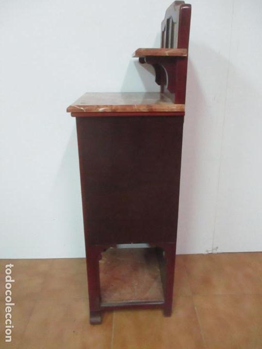 Antigüedades: Bonita Mesita Art Deco - Madera de Caoba y Limoncillo - Mármol Rojo Alicante - Principios S. XX - Foto 22 - 132100426